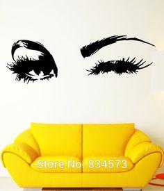 sexy-meisje-hete-vrouw-tiener-knipogen-ogen-sticker-kunst-aan-de-muur-sticker-home-decor-diy.jpg (570×666)