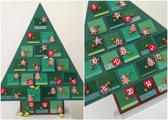 Hobbycraft painted and decorated wooden Advent calendar to count down to Christmas Christmas Tree Advent Calendar Diy, Advent Calander, Wooden Advent Calendar, Wooden Christmas Trees, Cute Crafts, Christmas Crafts, Christmas Decorations, Christmas Ornaments, Christmas Design