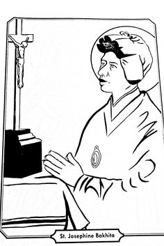 Acceptance: Saint Josephine Bakhita Catholic coloring page Feast Day is February 8th.
