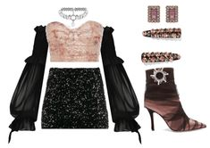 Discover outfit ideas for party made with the shoplook outfit maker. How to wear ideas for Gothic Off Shoulder Lantern and Suzanne Kalan Rose Gold Clueless Outfits, Kpop Fashion Outfits, Stage Outfits, Edgy Outfits, Korean Outfits, Mode Outfits, Retro Outfits, Girl Outfits, Korean Street Fashion