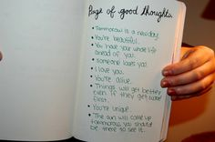 Wreck This Journal - Page of Good Thoughts