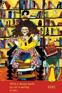 (Book woman) Haiku - Haiga by Kiki Suarez