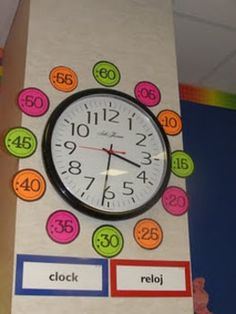 Here's a set of colorful numbers to place around your classroom clock.