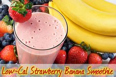 You won't believe this is low calorie once you tasted the strawberry banana recipe for a refreshing day-If you can't get a Maui Wowi smoothie, here is the next best thing.