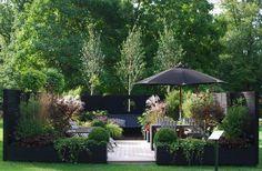 Back Garden Design - Terrasse Back Gardens, Outdoor Gardens, Back Garden Design, Backyard Ideas For Small Yards, Contemporary Garden, Garden Boxes, Modern Landscaping, Shade Garden, Outdoor Rooms