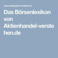 Das Börsenlexikon von Aktienhandel-verstehen.de