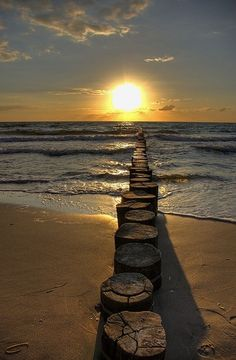 Sunset over the ocean ~ Path to the sun by corina