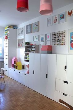 a children_s room done with IKEA Stuva