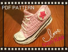Crochet pattern Big Kids inspired by converse style by IvonKaa