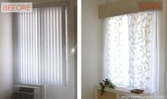 s 15 window curtain ideas for under 15, home decor, window treatments, Replace your sliding blinds with a curtain