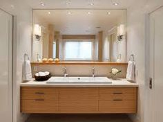 57 best bathroom vanity lighting images on pinterest bathroom 15 bathroom designs with flat panel cabinets aloadofball Images