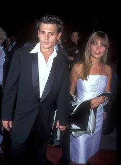 Pin for Later: Flashback to When These Famous Couples Went Public For the First Time Johnny Depp and Kate Moss in 1989