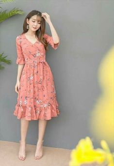 Dress Skirt Will Be Very Beautiful for You to Use Everyday Simple Dresses, Pretty Dresses, Beautiful Dresses, Casual Dresses, Girls Dresses, Summer Dresses, Simple Dress Casual, Casual Chic, Short Dresses