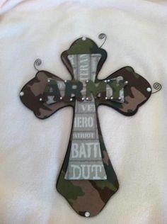 Army Cross by CierrasCreations on Etsy, $25.00