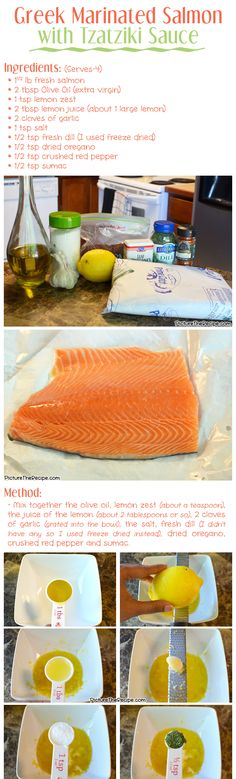 Greek Marinated Salmon Recipe- Part 1