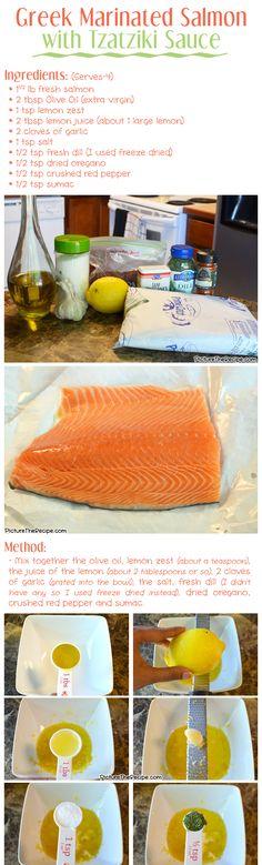 Greek Marinated Salmon Recipe- Part 1