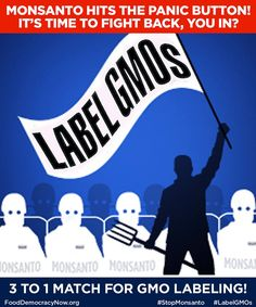 Help us raise $100,000 in the next week so we can defeat Monsanto and win GMO labeling in Oregon and Colorado! http://bit.ly/1nPCQth If you donate today, your donation will be matched 3 to 1 by the incredible teams at Dr. Joseph Mercola and Dr. Bronner's Magic Soaps. Don't miss this chance to have your gift matched by pitching in whatever you can. Every dollar counts! http://bit.ly/1nPCQth #LabelGMOs #righttoknow #GMOs Oregon Right To Know Right To Know Colorado - GMO #StopMonsanto