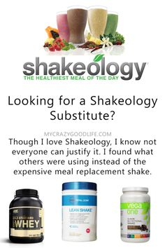 Shakeology substitute, thank the Lord because I just can not drink Shakeology!