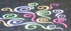 Chalk drawing with my BFF!!! This ones mine...