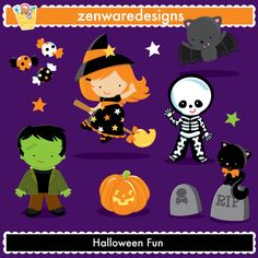 Halloween Clipart by ZenwareDesigns on Etsy https://www.etsy.com/uk/listing/454407450/halloween-clipart