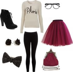 """""""Paris Sweater And Tutu"""" by hannahecope on Polyvore"""