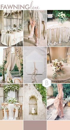 wedding themes Were bringing you even more ideas today with a roundup of our 5 Must See Wedding Moodboards as part of our Best of B.LOVED series this week! Taupe Wedding, Neutral Wedding Colors, Cream Wedding, Wedding Color Schemes, Champagne Wedding Themes, Gold Weddings, Green Weddings, Romantic Wedding Inspiration, Wedding Ideas