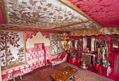 The Red Room in Victor Hugo's house, Guernsey.