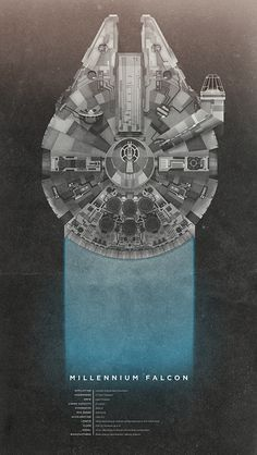 Millennium Falcon Poster $15 - going in the future mancave