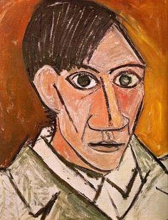 Picasso: Self portrait, 1907