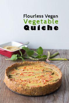 Flourless Vegan Vegetable Quiche