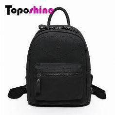 e67f7b0267 Toposhine Rotro Backpack Women Pu Leather Bag Women Bag Small Women Backpack  Mochila Feminina School Bags For Teenagers 1591