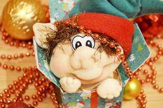 """Куклы из колготок """"Рождественский эльф"""" ❀ Make A Elf Doll Using Pantyhose"""