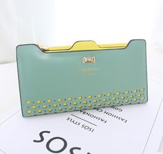 2015 Arrival Hollow out Women Bow Coin Long Fashion Leather PU Women's Purses Key Phone Bags Wallet Cards Passort Money Clips