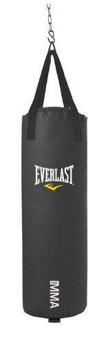 Everlast 70-Pound MMA Poly Canvas Heavy Bag (Black) - http://www.exercisejoy.com/everlast-70-pound-mma-poly-canvas-heavy-bag-black/boxing/