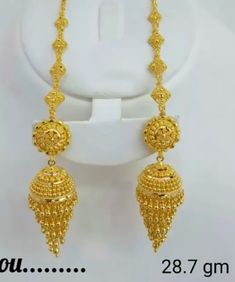 Gold For Jewelry Making Gold Jhumka Earrings, Indian Jewelry Earrings, Gold Bridal Earrings, Jewelry Design Earrings, Gold Earrings Designs, Gold Jewellery Design, Gold Ring Designs, Gold Jewelry Simple, Baby Boy