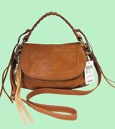 Authentic LUCKY BRAND Knots Landing Cognac  Leather Crossbody Bag Msrp$148.00