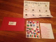 Open When You Need A Vacation- A letter, flags of different countries to visit and famous landmarks. For My Navy Boyfriend. #pre deployment #navy #military love