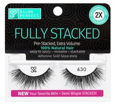 Salon Perfect 630 Stacked Lash Image 1 of 2 Salon Perfect Lashes, Perfect Eyelashes, French Tip Design, Black French Tips, Waterproof Eyebrow, Only At Walmart, Makeup Remover Pads, Falsies, Eyebrow Pencil