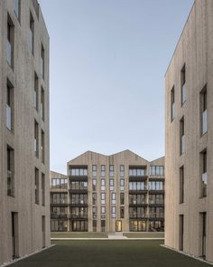Image 2 of 12 from gallery of Mandal Slipway Housing Complex / Reiulf Ramstad Arkitekter. Photograph by RRA Timber Architecture, Classical Architecture, Amazing Architecture, Luz Natural, Wooden Facade, Hotels, Gated Community, Interior Exterior, Outdoor Areas