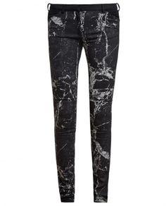 Marbled Denim Jeans