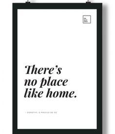 Poster/Quadro com Frase da Dorothy no filme O Mágico de Oz  – There's no place like home
