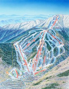 Waterville Valley, NH Trail Map. #vacation #travel  www.avacationrental4me.com