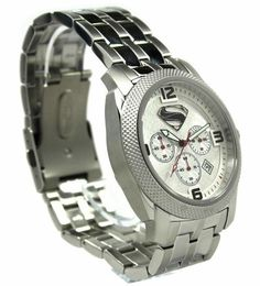 """Man of Steel Superman """"Silver"""" Extreme Limited Edition Collection Watch Superman Watch, Superman Logo, Man Of Steel Costume, Style Watch, Watch Case, Stylish Men, Chronograph, Rolex Watches, Charity"""