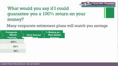 Jump$tart Teacher Training: Retirement