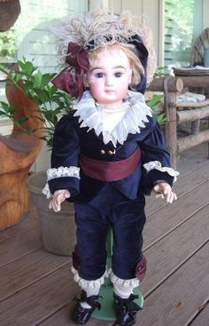 "Transitional DEPOSE Tete Jumeau 25"" Antique Doll - Three Sisters Antiques #dollshopsunited"