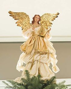 Add a timeless treasure to your elegant Christmas tree with this beautiful Gold Angel Tree Topper from Balsam Hill AU. Elegant Christmas Trees, Angel Christmas Tree Topper, Christmas Tree Tops, Christmas Nativity Scene, Outdoor Christmas, Christmas Angels, Xmas Tree, Christmas Decorations, Nativity Sets