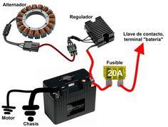 Yamaha XJ series minimum wiring diagram Motorcycle