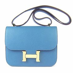 Promote price $269.00, Hermes Constance Bag H017 Medium Blue Gold