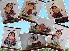 Resultado de imagem para pinturas em tecidos de joaninhas