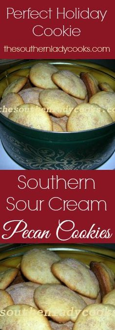 Southern Sour Cream Pecan Cookies make wonderful gifts for any occasion and are delicious! You will make these cookies over and over again.